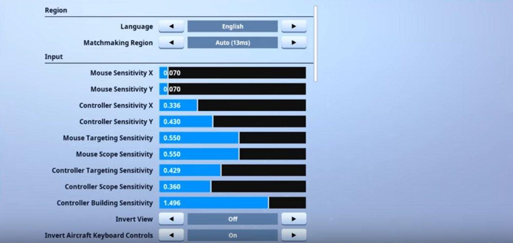 game settings - liquid poach fortnite keybinds