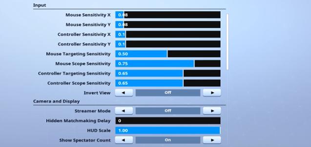 game settings - bizzle fortnite